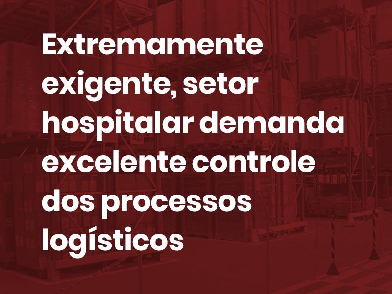 controle de processos logísticos para hospital